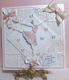 Good Morning Ladies, I am so excited to share with you today the card that Sheila made for her beautiful Nikki, we are also very pri. Daughter Birthday Cards, Good Morning Ladies, To My Daughter, Daughters, Cardmaking, Craft Projects, Paper Crafts, Creative, Frame