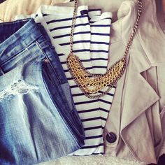 Classic outfit.