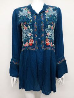 NWT-Johnny-Was-Long-Sleeve-Embroidered-Tunic-XL-JW94841215