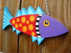 Funky Fish - Wood plaque