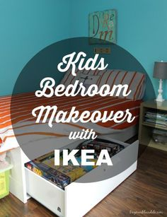 We made over my son's room with IKEA furniture, and we absolutely love it! All that extra storage, it was so affordable, and he can grow with these furniture! Kids bedroom makeover, Dagmar's Home,  DagmarBleasdale.com #bedroom #kidsroom #makeover #design