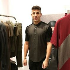 Designer Domingo Rodriguez at lcm designer showrooms @Britishfashion Council A/W 2014 menswear andleather