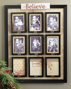 What Do You Do With Past Santa Photos? I like the idea of doing this with past Christmas cards!!!