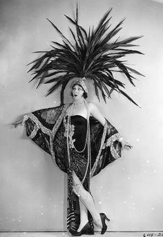 Ziegfield showgirl, C. 1920...designed by eitherTravis Banton or Howard Greer.