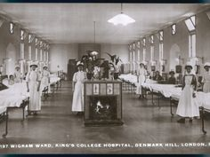 An poster sized print, approx mm) (other products available) - Wigram ward of King& College Hospital, Denmark Hill, S. London - Image supplied by Mary Evans Prints Online - poster sized print mm) made in the UK Vintage Nurse, Vintage Medical, King's College, Medical History, School Pictures, Cool Posters, British History, Poster Size Prints, Denmark