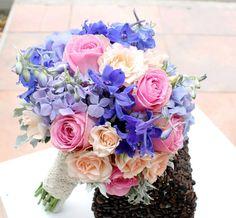 Buchet de Mireasa. Hortensie si Delphinium by JuliasRoseShop Bridal Bouquets, Beautiful Flowers, Floral Wreath, Wreaths, Weddings, Trending Outfits, Unique Jewelry, Handmade Gifts, Etsy
