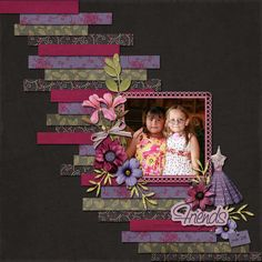 Friends 2~scrap book page layout - Oooh, I did this one also! #scrapbook #scrapping http://scrapnparadise.webs.com