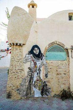"Artist :Swoon ... Djerbahood ""Djerba Tunisie"" 2014"