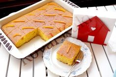 Orange Revani 1 - new site Delicious Desserts, Yummy Food, Doughnut Cake, Middle Eastern Recipes, Iftar, Turkish Recipes, Cake Cookies, Sweet Recipes, Food To Make