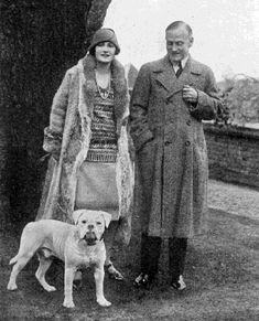 Couple with old style bulldog.
