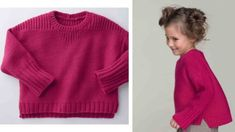 Knitting free sweater jersey and rib woman present the mag Knitting For Kids, Free Knitting, Baby Knitting, Ribbed Sweater, Men Sweater, Tricot Baby, Pullover, Mom And Baby, Turtle Neck