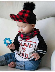 toddler boy buffalo plaid plaid is radbaby boy baby by Our5loves