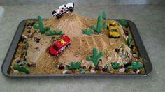Off road race cake trophy truck desert racing made by Melanie Harris