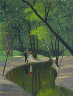 The Athenaeum - Forest of Boulogne (Felix Vallotton - )