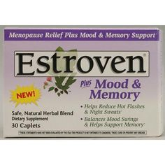 Amerifit Nutrition Estroven Plus Mood and Memory Estroven Plus Mood & Memory helps reduce the symptoms of menopause naturally and safely. This unique formula contains a blend of herbs to help balance mood swings and support memory. Includes 1,000 IU vitamin D3 for strong bones.  $17.99