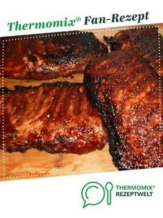 Marinade für superzarte Rippchen - - Marinade für superzarte Rippchen grillen Marinade for super tender ribs from sizzling witch. A Thermomix ® recipe from the main course with meat category www.de, the Thermomix ® community. Easy Pork Chop Recipes, Stew Meat Recipes, Pork Recipes, Crockpot Recipes, Vegetarian Recipes, Healthy Pork Chops, Spareribs, Chops Recipe, Barbecue Recipes