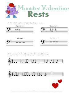Rhythmic Dictation Worksheet | Music Class Ideas | Pinterest ...