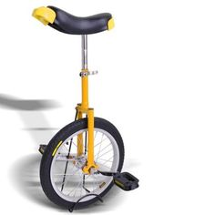 "16"" Yellow Top Quality Unicycle Wheel - http://www.bicyclestoredirect.com/16-yellow-top-quality-unicycle-wheel/"