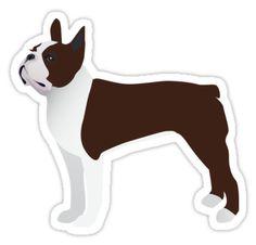 Brown Boston Terrier Basic Breed Design by TriPodDogDesign