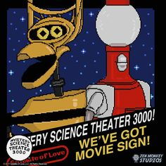 NEW: MST3K - The Game! Dark Heather Color, Satellite Of Love, Get Movies, Mystery Science, Cinema, Titanic, Crow, Science Fiction, Movie Tv