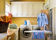 Yellow wall for the laundry room?