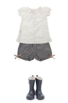 "for the shirt - use ""Toddler Shirt Dress"" tutorial. for the shorts - use ""Puppet Show Shorts"" pattern from Oliver & S"