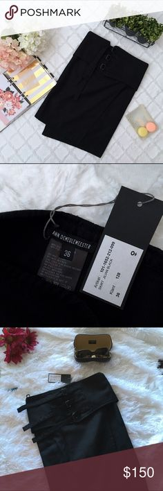 """🆕 Ann Demeulemeester Wrap Skirt This Belgian designer is known for her edgy designs. This skirt is brand new. It is a wrap design with 3 adjustable buckle ties on the front. 90% Cotton 10% Polyamide. Made in Tunisia. The waist measures approx 28"""" and the length 20"""". New with tags! This is a size 36 EU which translates to a size 6 or S US. Ann Demeulemeester Skirts Mini"""