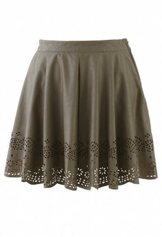 Faux Leather Skirt with Cut Outs Leather Mini Skirts 5004a92ac784b