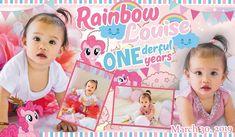 My Little Pony - Rainbow Tarpaulin Design for First Birthday 1st Birthday Girls, 70th Birthday, Unicorn Birthday, Birthday Tarpaulin Design, Invitation Layout, Balloon Invitation, Christening Invitations Boy, Happy 1st Birthdays, My Little Pony