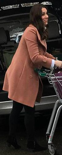 3 Apr 2018 - Duchess of Cambridge spotted shopping at Waitrose in Norfolk