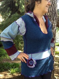 Upcycled Elf Hoodie Renaissance Patchwork by danamurphydesigns, $52.00