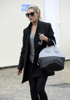 Va va voom: The Strictly Come Dancing winner still wore a tight pair of black trousers, gr...