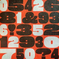 #eames poster numerals on newsprint. by houseindustries