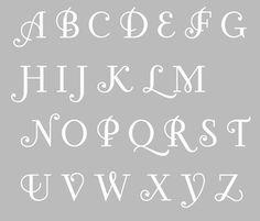 Pochoir Adhésif 30 x 20 cm ALPHABET ANCIEN (3cm par lettre)