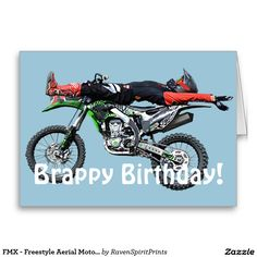 FMX - Freestyle Aerial Motocross Stunt III Greeting Card