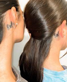 Friend Tattoos Small, Small Matching Tattoos, Matching Best Friend Tattoos, Small Tattoos, Strong Tattoos, Red Ink Tattoos, Cute Tattoos, Body Art Tattoos, Tatoos