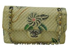 80 90s Vintage CHANEL matelasse purse cotton Fun by eNdApPi, $648.00..... .why is all the great stuff soooo expensive?!?