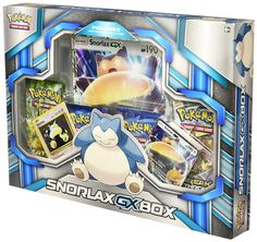 Pokemon TCG: Snorlax GX Box Card Game Two never-before-seen foil promo cards featuring snorlax and snorlax-gx. One foil oversize card featuring snorlax-gx. Four pokemon tcg booster packs. A code card for the pokemon trading card game online. Pokemon Tins, Pokemon Packs, Pokemon Snorlax, First Pokemon, Cool Pokemon, Set Card Game, Kids Toy Store, Pokemon Trading Card, Boxing