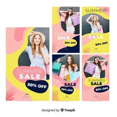 Modern sales banner for social media Vector Social Media Poster, Social Media Banner, Social Media Template, Social Media Design, Graphic Design Templates, Modern Graphic Design, Instagram Story Template, Instagram Templates, Pop Design