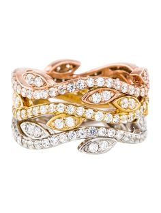 1.98ctw Stackable Diamond Vine Rings - Fine Jewelry - FJR20927 | The RealReal