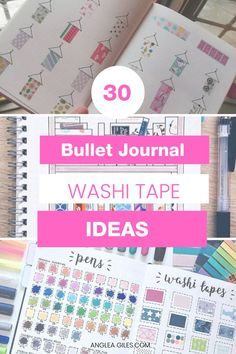 Washi Tape Ideas for Bullet Journals that you will love! How to use washi tape in your bujo planners, over 30 creative washi tape ideas & washi collections for your inspiration. Bullet Journal Washi Tape, Creating A Bullet Journal, Bullet Journal Notebook, Bullet Journal Tracker, Bullet Journal Hacks, Bullet Journal Printables, Bullet Journal Spread, Bullet Journal Layout, Bullet Journal Inspiration