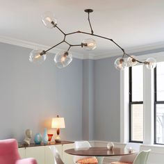 A stunning light fixture! Branching Series, 7-Bubble Chandelier Version II