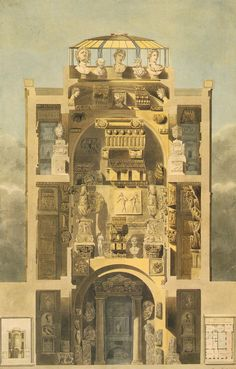Sir John Soane, Academy of Architecture (Soane Museum and Library), London, 1812-1834