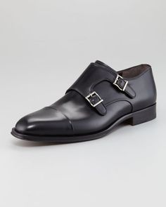 Men's Double Monk-Strap Loafer by Bergdorf Goodman at Bergdorf Goodman.
