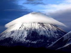 Strange Clouds Over Klyuchevskaya Sopka Volcano located in Kamchatka, Russia