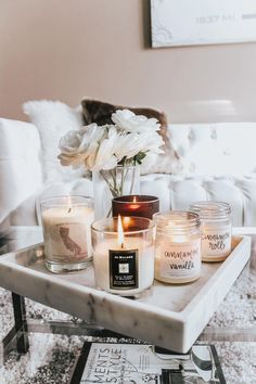 Candle Decor for Coffee Table . 24 Best Of Candle Decor for Coffee Table . Coffee Table Styling, Coffee Table Books, Coffee Table Design, Decoration Bedroom, Rooms Home Decor, Decoration Table, Tray Decor, Coffee Table Decor Living Room, Decorating Coffee Tables