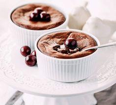 Deser z płynną czekoladą