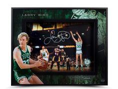 Framed Larry Bird Boston Celtics Larry Legend Autograph Replica Print