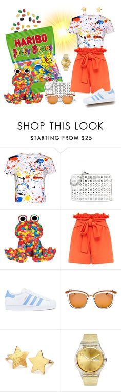 """""""Be Colorful!"""" by krusie ❤ liked on Polyvore featuring Alice + Olivia, Iscream, adidas, Le Specs, Pernille Corydon and Swatch"""