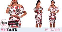 Ai un abdomen perfect? Pune-l in valoare cu un compleu trendy, inflorat si super sexy! Shoulder Dress, Two Piece Skirt Set, Spandex, Floral, Skirts, Dresses, Fashion, Vestidos, Moda